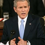 George W Bush (1946 -), my 10th cousin (maternal).